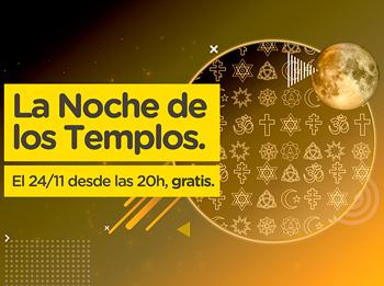 Sábado 24/11 Tercera edición de la Noche de los Templos