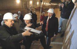Telerman visitó las obras de la Estación Echeverría de la Linea B de subterráneos