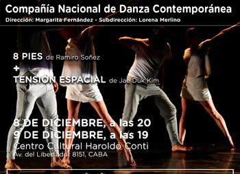 Danzas en el Haroldo Conti 8 y 9 de diciembre de 2018