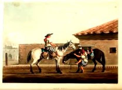 Lechero colonial Buenos Aires 1819, Acuarela de Ermeric Essex Vidal