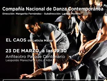 """""""El CAOS"""" se presenta el 23 de marzo en el Parque Centenario"""