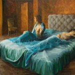 Insomnio // pintura al óleo original por DomestikArt en Etsy