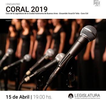 Encuentro Coral 2019 en la Legislatura porteña