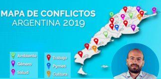 Jonathan Thea presentó el Mapa de Conflictos de Argentina 2019