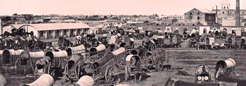 carretas en el Río de la Plata