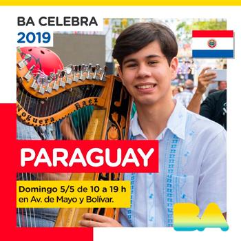 BA Celebra Paraguay 2019 el 5 de mayo en Av. de Mayo y Bolivar