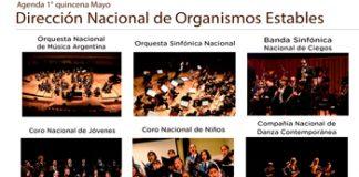 Los Organismos Estables anunciaron su agenda del 2 al 15 de mayo de 2019