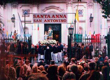 Festejo del día de Santa Ana, patrona de la Marina Grande de Sorrento
