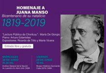 Homenaje a Juana Manso al cumplirse los 200 años de su nacimiento