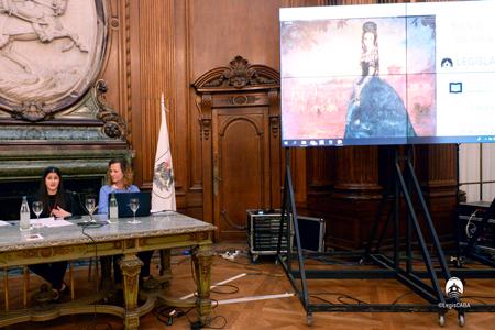 La restauración de la pintura Bajo el Velo de Amalia de Juan Carlos Alonso