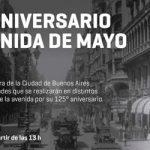 El 8 de julio se festeja el 125 aniversario de la Avenida de Mayo