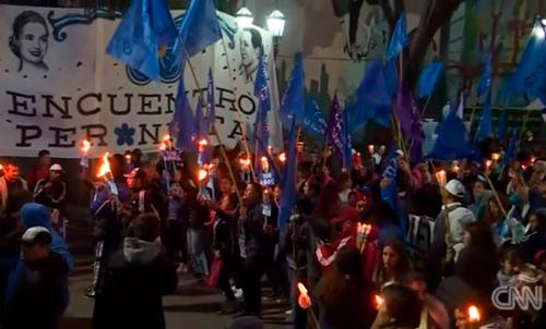 """La """"Marcha de las Antorchas"""" se integró al Patrimonio Histórico Cultural"""