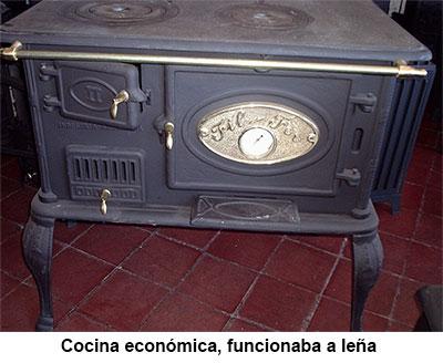 cocina económica a leña