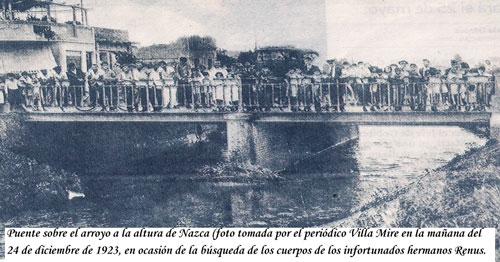 Puente sobre el arroyo a la altura de Nazca