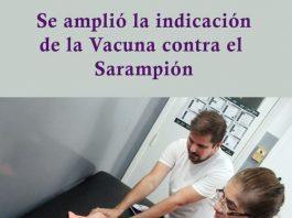 Se amplió la indicación de la Vacuna contra el Sarampión