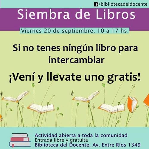 20 de septiembre ¡Siembra de Libros!