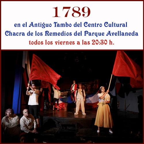 """Grupo Tambo Teatro reestrena """"1789"""""""