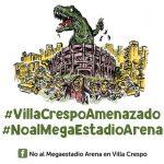 #VillaCrespoAmenazado #NoalMegaEstadioArena