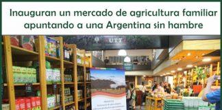 mercado de agricultura familiar en el barrio de Villa Devoto