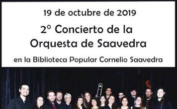 Concierto de la Orquesta de Saavedra en la Biblioteca Cornelio Saavedra