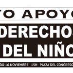 Acto por los Derechos del Niño en Plaza del Congreso