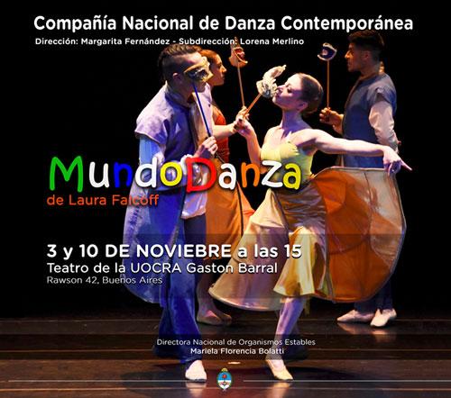 MundoDanza de L. Falcoff el 10 de noviembre en Teatro de la UOCRA