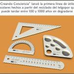 """""""Creando Conciencia"""" desarrolló útiles con Telgopor reciclado"""