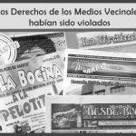 La Justicia ratificó que los Derechos de los Medios Vecinales fueron violados