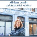 Miriam Lewin nueva Defensora del Público